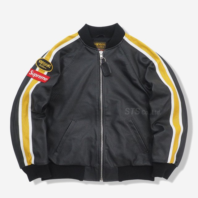 Supreme/Vanson Leathers Perforated Bomber Jacket