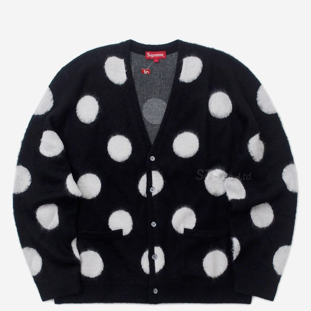 Supreme - Brushed Polka Dot Cardigan