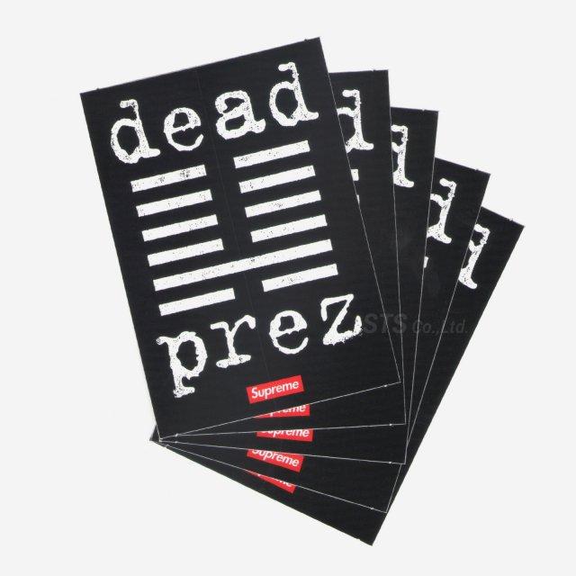 【Dead Stock】Supreme/dead prez Sticker