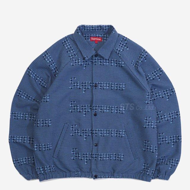 Supreme - Houndstooth Logos Snap Front Jacket