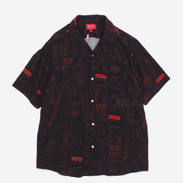 Supreme - Receipts Rayon S/S Shirt