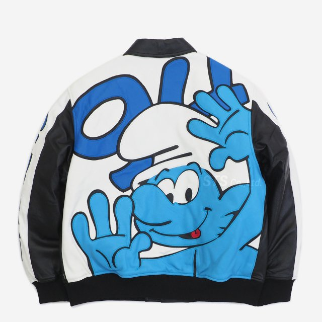 Supreme - Smurfs Leather Varsity Jacket