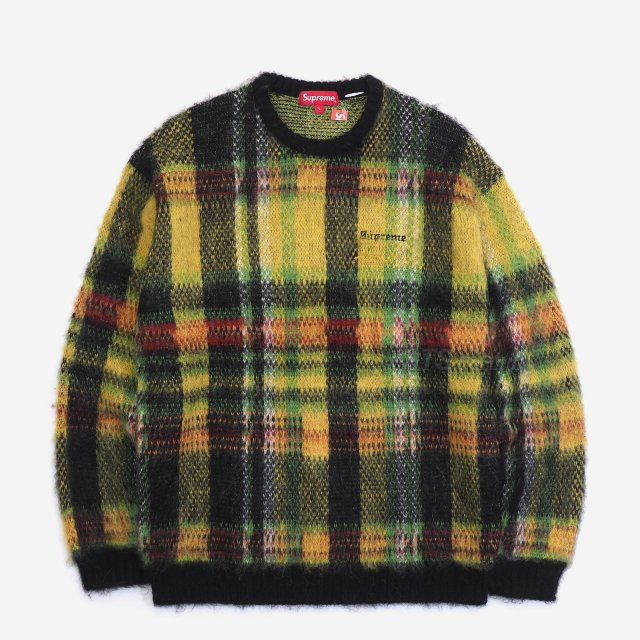 Supreme - Brushed Plaid Sweater