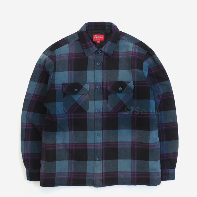 Supreme - Quilted Flannel Shirt