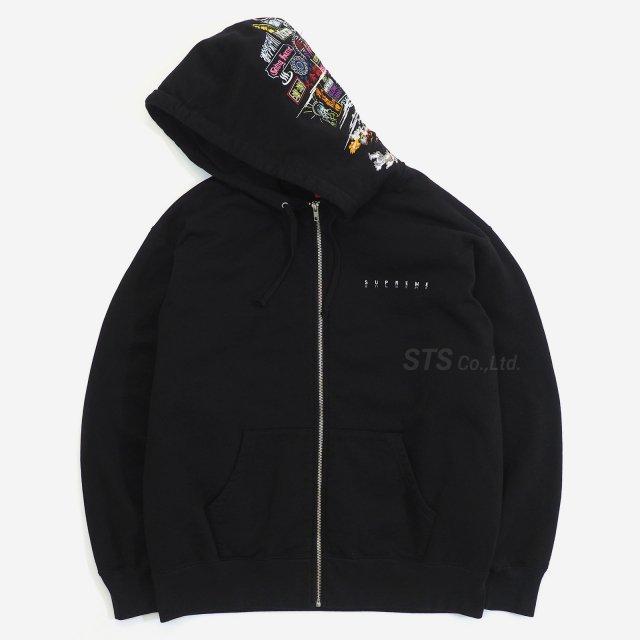 Supreme - Globe Zip Up Hooded Sweatshirt