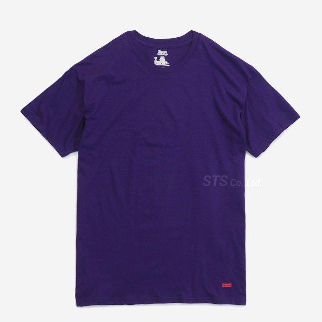 Supreme/Hanes Tagless Tees (2 Pack) - Purple