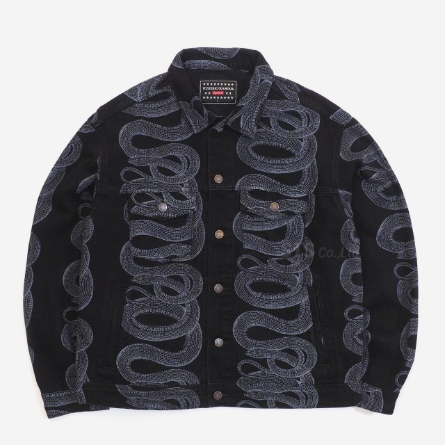 Supreme/Hysteric Glamour Snake Denim Trucker Jacket