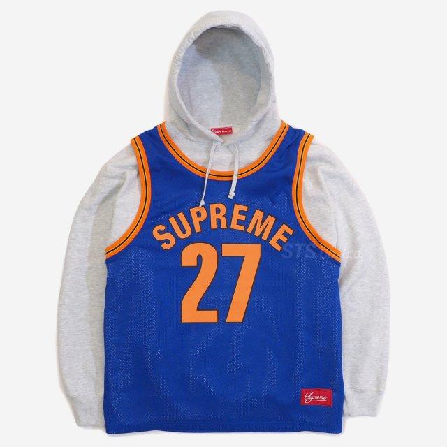 Supreme - Basketball Jersey Hooded Sweatshirt