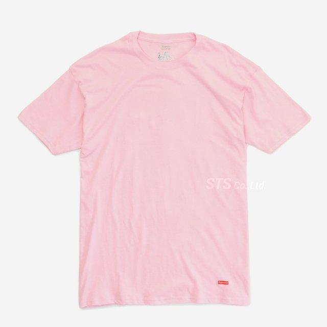 Supreme/Hanes Tagless Tees - Pink  (2 Pack)