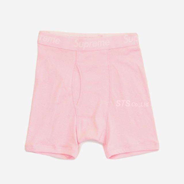 Supreme/Hanes Boxer Briefs - Pink (2 Pack)