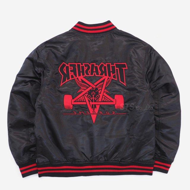 Supreme/Thrasher Satin Varsity Jacket