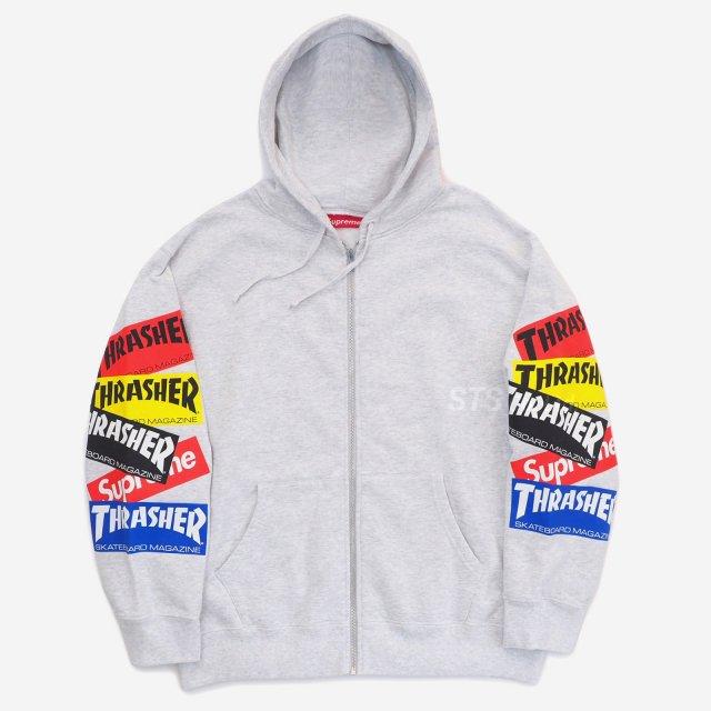 Supreme/Thrasher Multi Logo Zip Up Sweatshirt