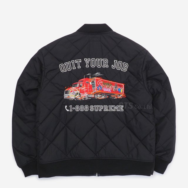 Supreme - Quit Your Job Quilted Work Jacket