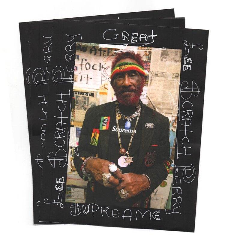 ��Dead Stock��Supreme - Lee Scratch Perry Sticker - Black
