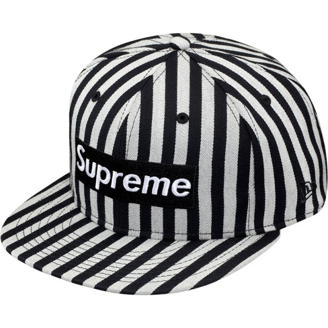 Supreme - Striped Box Logo New Era