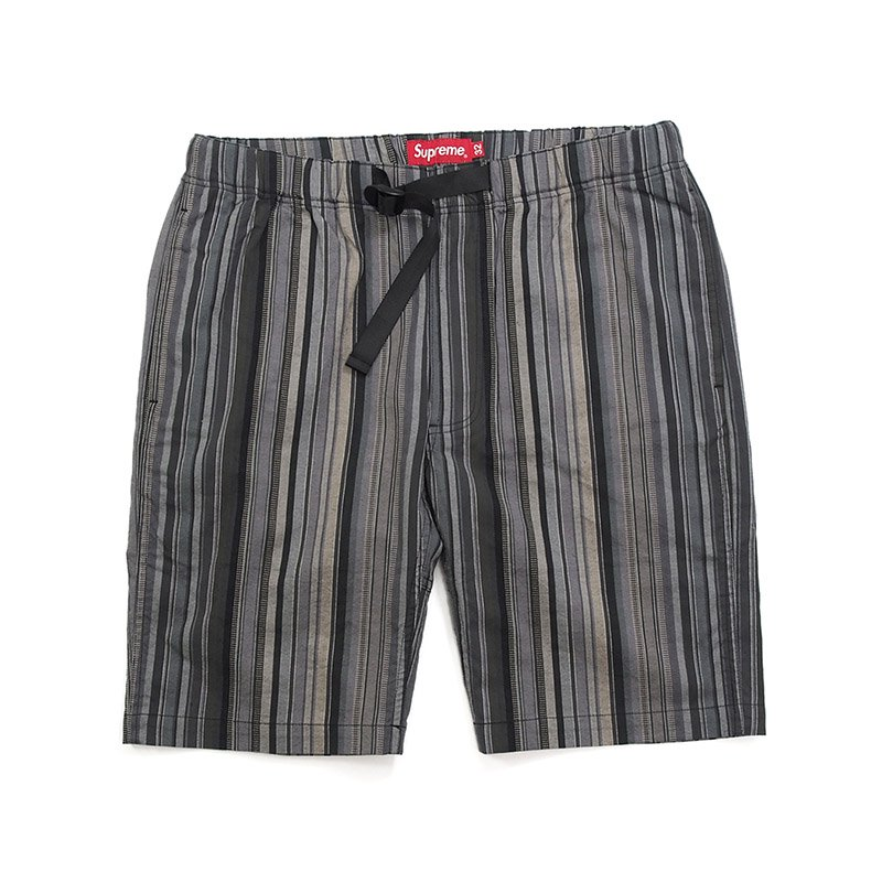 Supreme - Striped Madras Belted Short