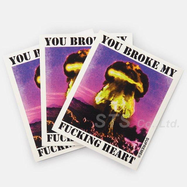 【Dead Stock】Supreme - Heart Sticker