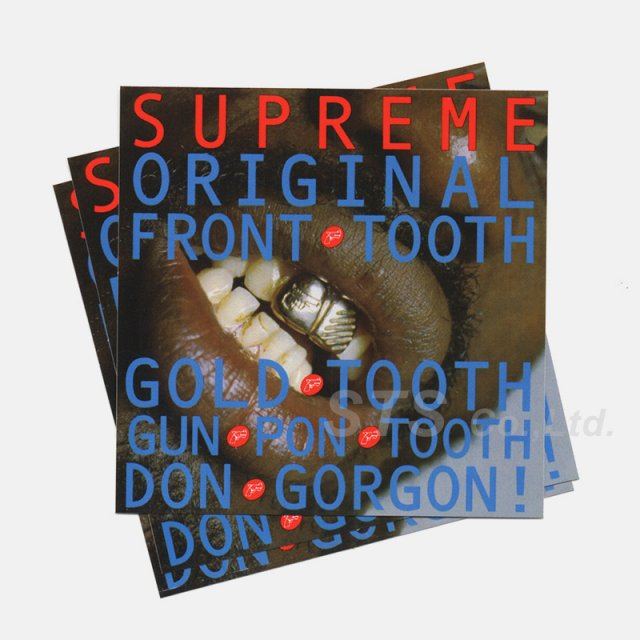 Supreme - Gold Tooth Sticker