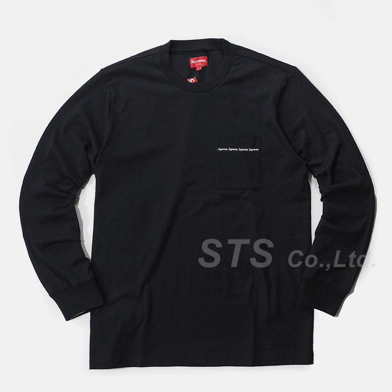 Supreme - Woven Tape L/S Pocket Tee