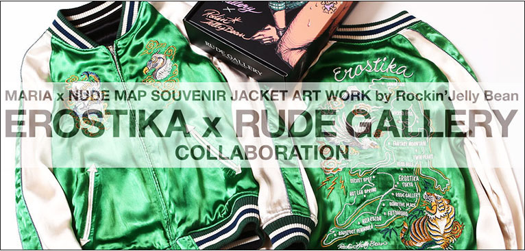 MARIA×NUDE MAP SOUVENIR JACKET<ART WORK by Rockin' Jelly Bean>