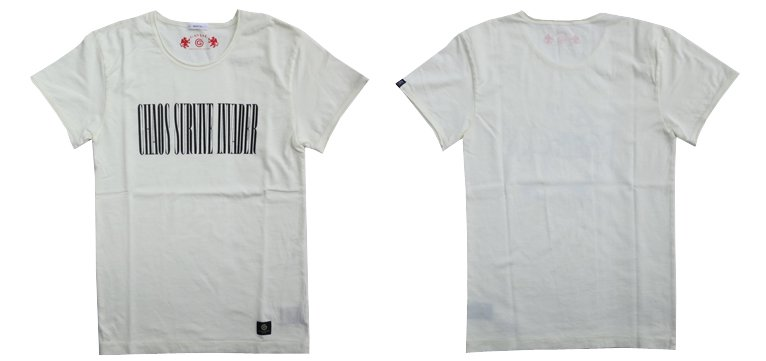 """GAVIAL / SS U NECK TEE """"CHAOS SURVIVE INVADER""""(WHT)"""