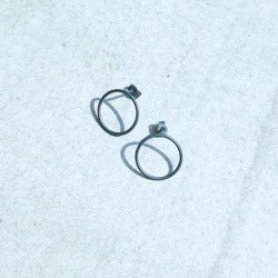 CIRCLES EARRINGS OXIDIZED