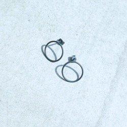 CIRCLES EARRINGS OXIDIZED