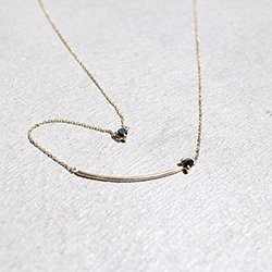 REVERSE DOUBLE BLACK DIAMOND NECKLACE