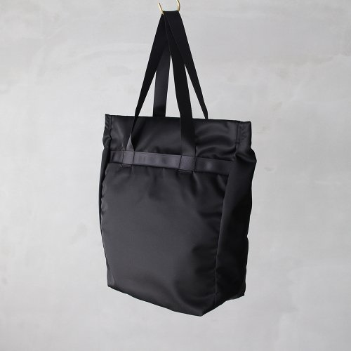 leaf spring tote _ no.1 / black - nylon twill