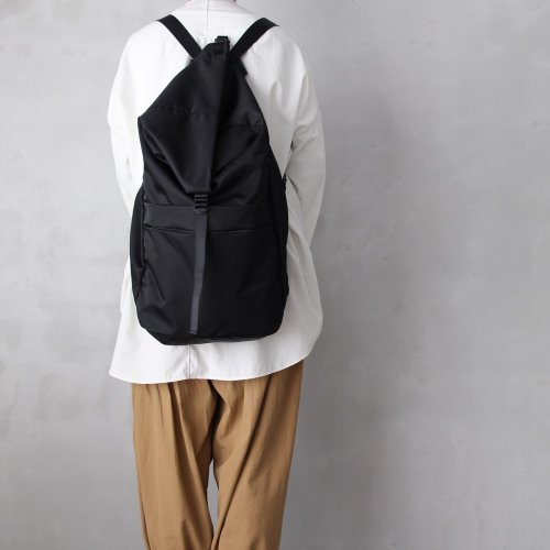 leaf spring backpack _ no.2 / black - nylon twill