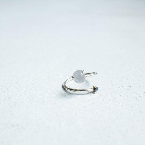 MOONSTONE AND DIAMOND WRAP RING