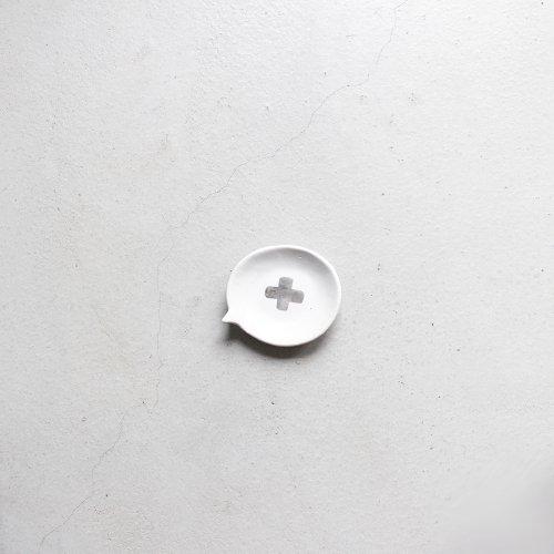 ふきだし / 銀彩 _ 十字・White