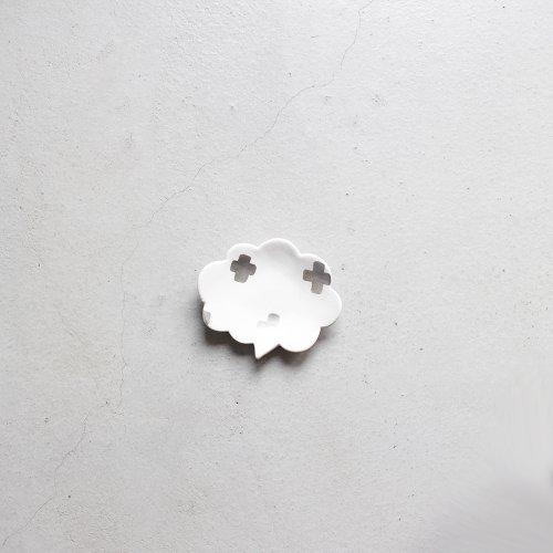 クラウド / 銀彩 _ 十字・White