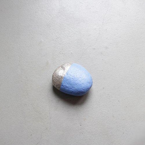 石コロ / 銀彩 _ 切替・Light blue