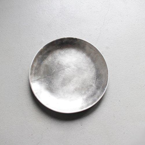 7寸皿 / 銀彩・Silver