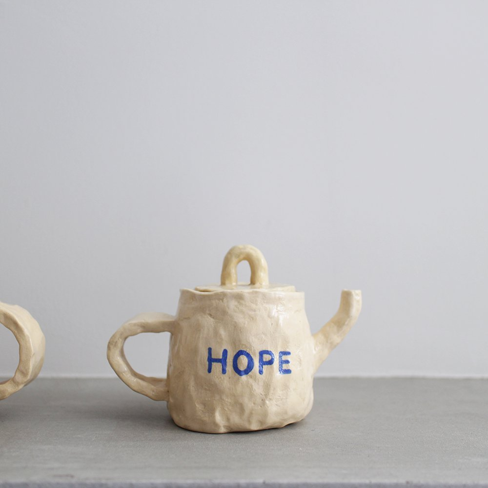 HOPE, WISH / tea pot