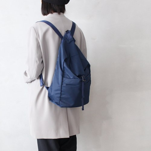 leaf spring backpack _ no.1 / navy - nylon twill