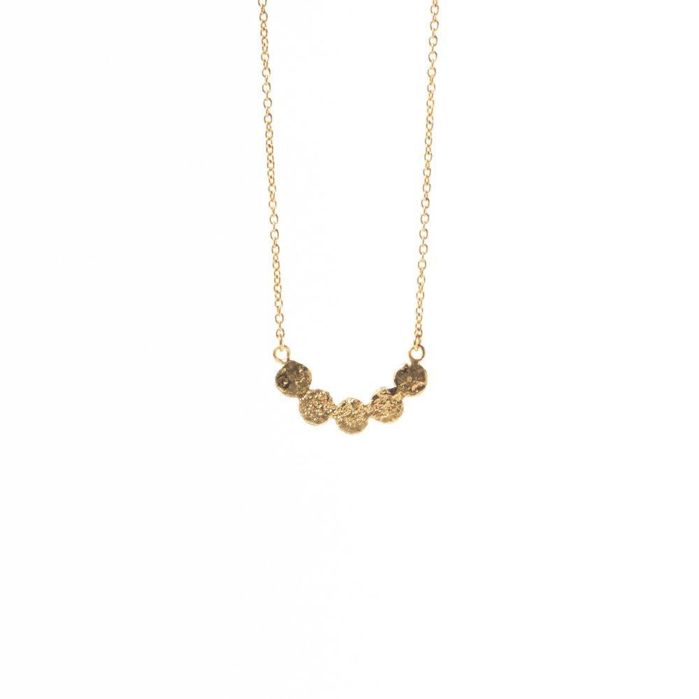 tenten link long necklace / gold