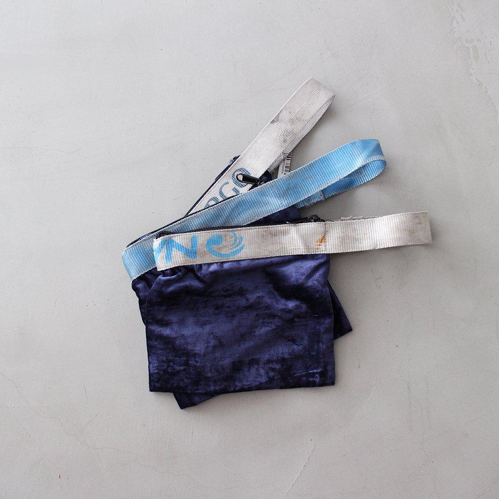 VINTAGE SLING BELT POUCH / Navy Blue