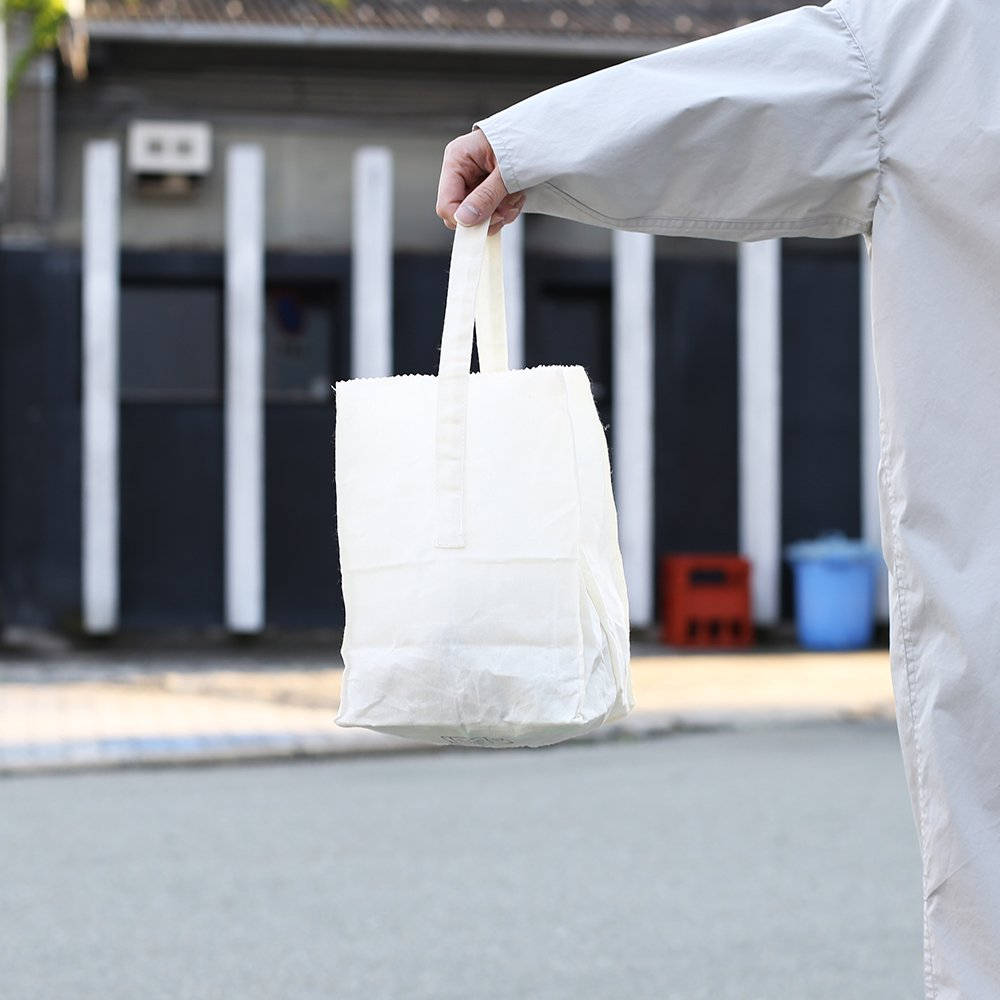 GROCERY BAG with HANDLE / Small_White