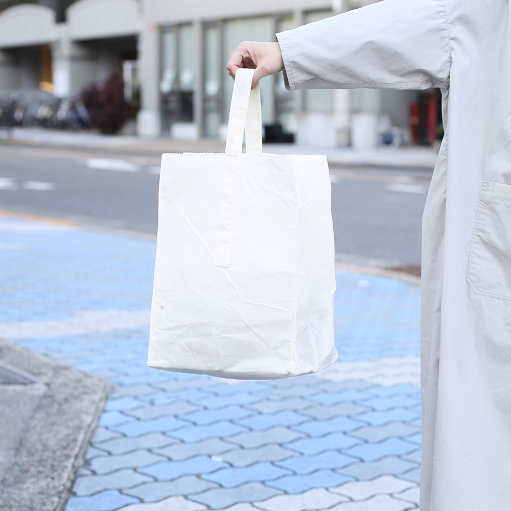 GROCERY BAG with HANDLE / Large_White