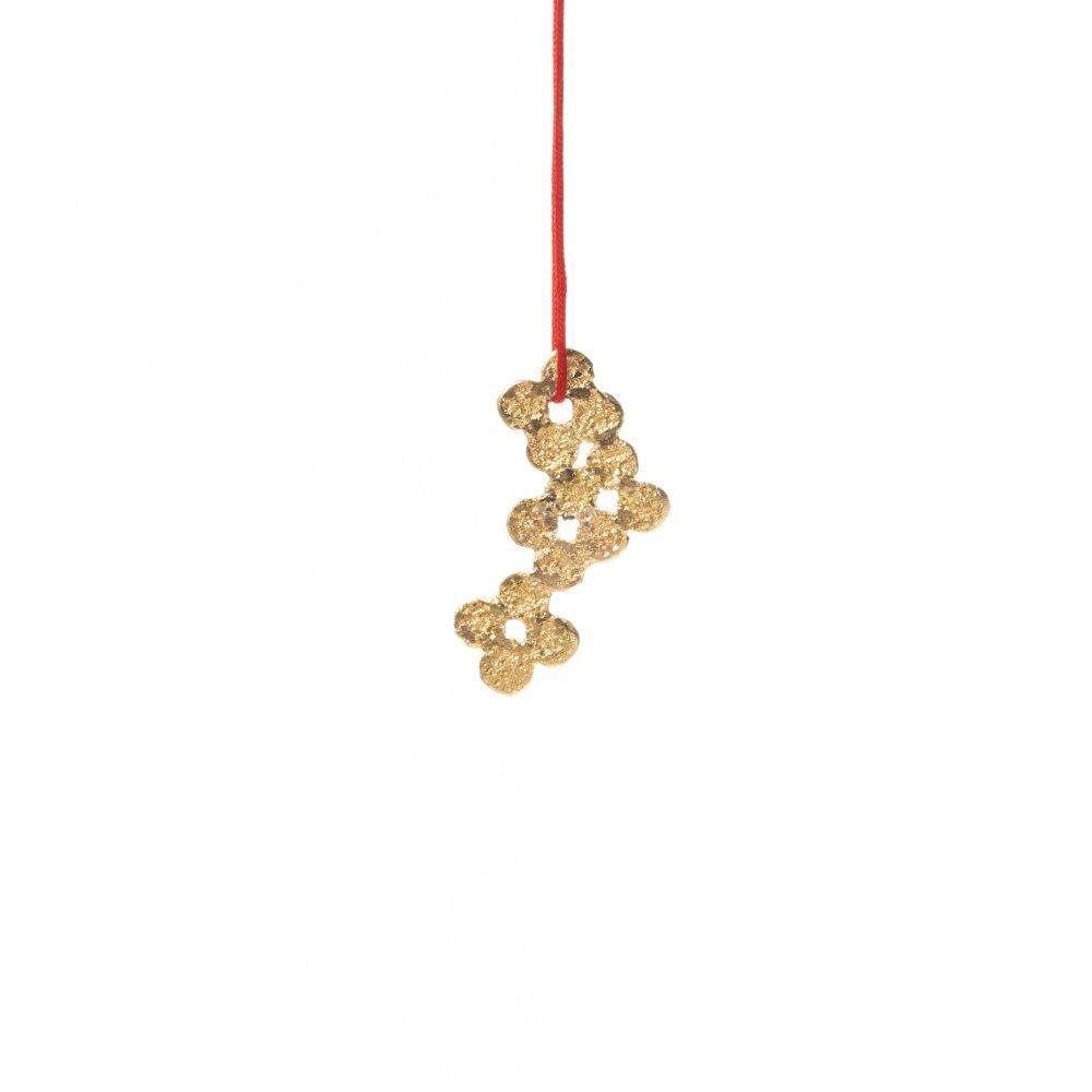 tenten flower pendant / gold