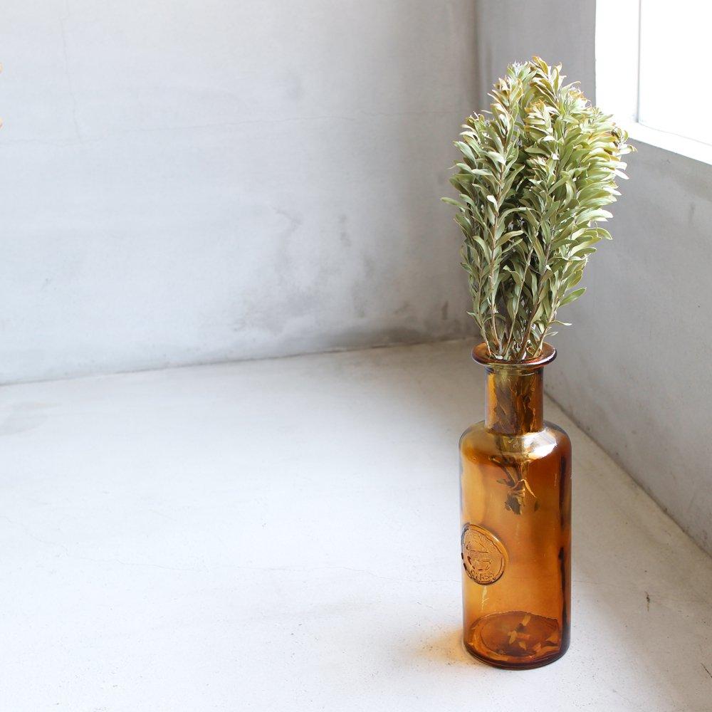 VASE / amber glass bottle