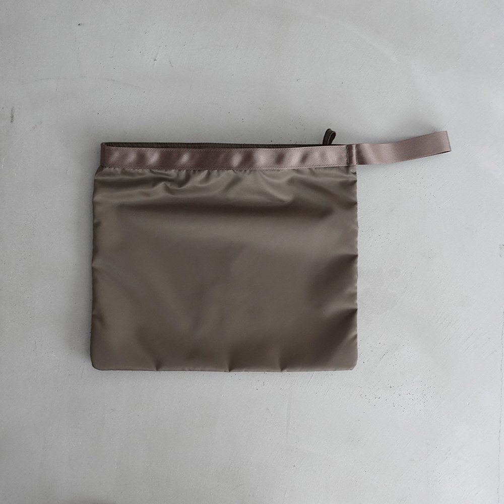 leaf handle pouch _ no.3 / olive - nylon twill