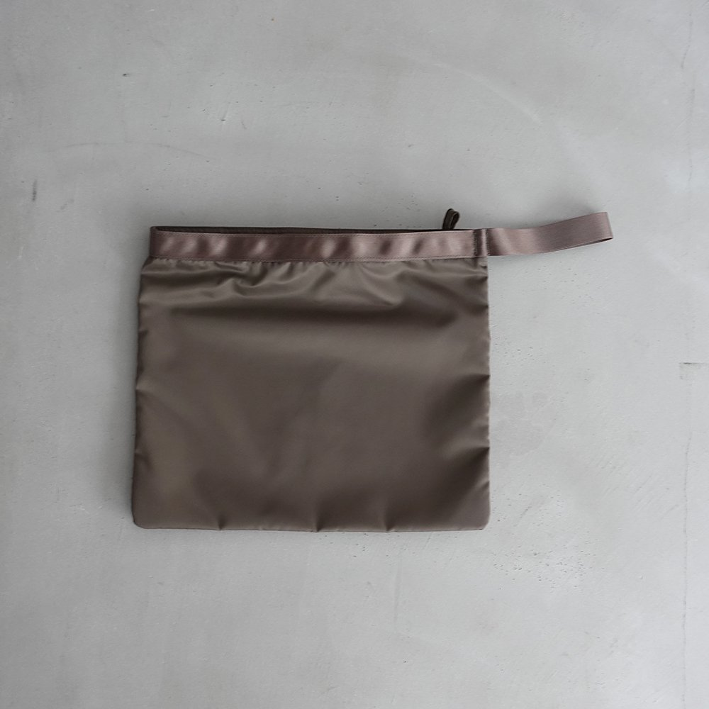 leaf handle pouch _ no.2 / olive - nylon twill