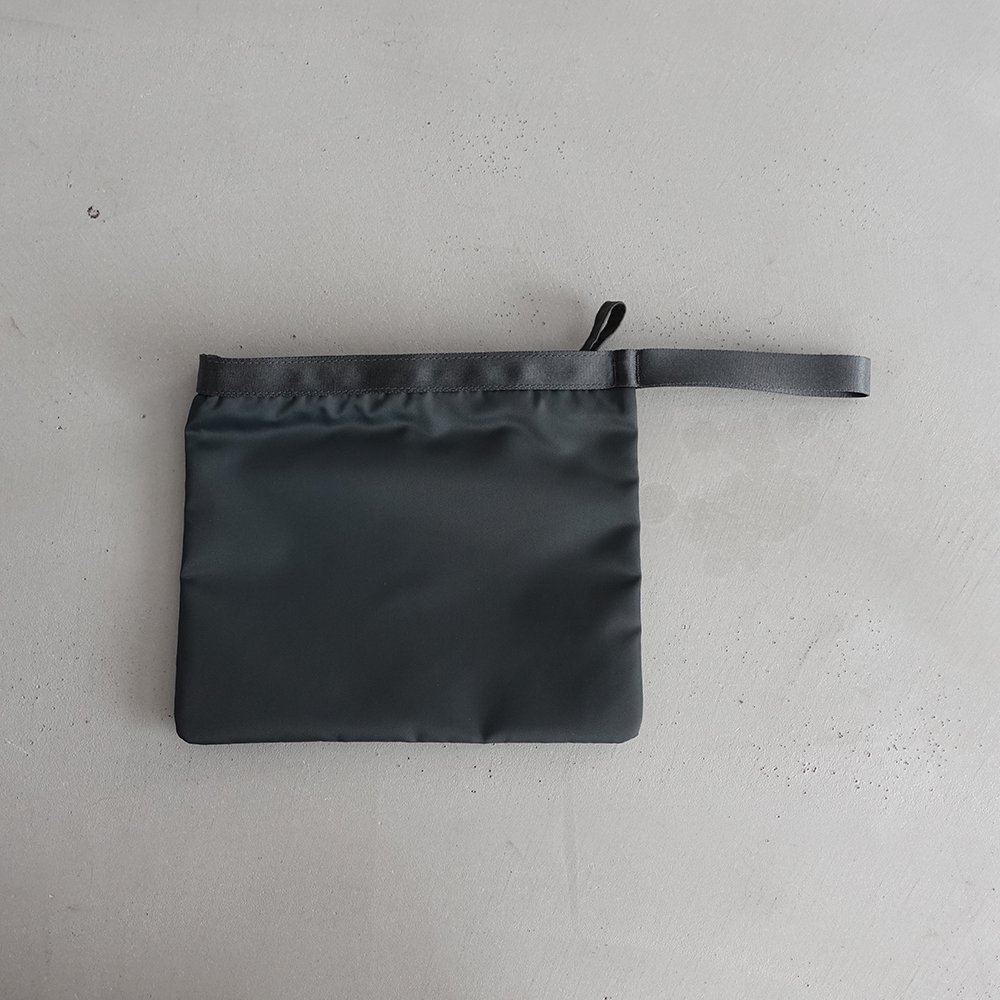 leaf handle pouch _ no.1 / moss gray - nylon twill
