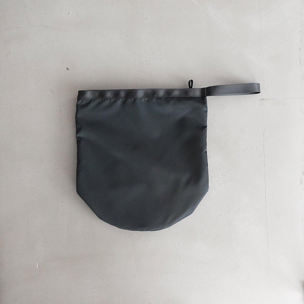 leaf shopping bucket _ no.2 / moss gray - nylon twill