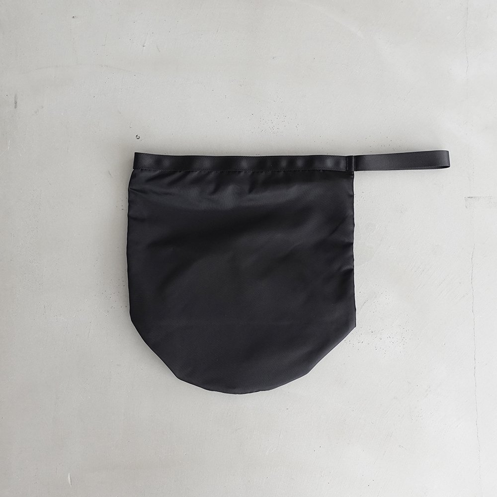 leaf shopping bucket _ no.2 / black - nylon twill