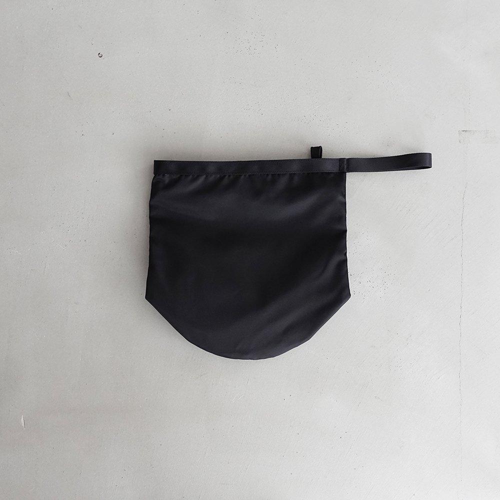 leaf shopping bucket _ no.1 / black - nylon twill
