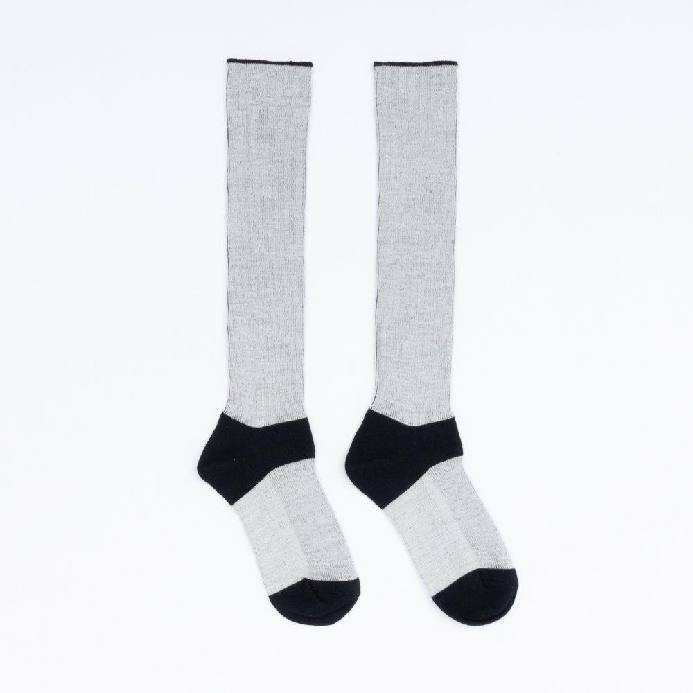 FA15041 / LANA01_01 Black(heel,toe)×White